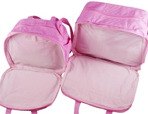 kit bolsa rosa maternidade bebe coroa menina menino kb2008
