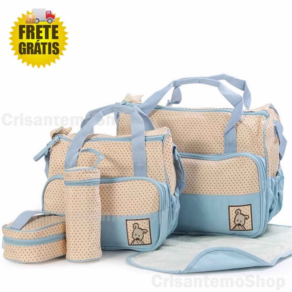 8477332541 kit bolsa saída maternidade bebê 5 peças azul + frete grátis. Carregando  zoom.
