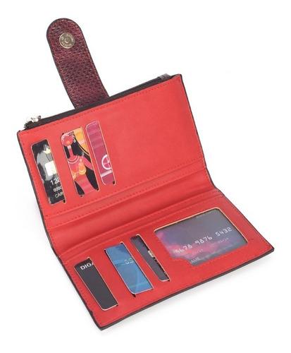 kit bolsa  transversal vermelha up4you + carteira gash