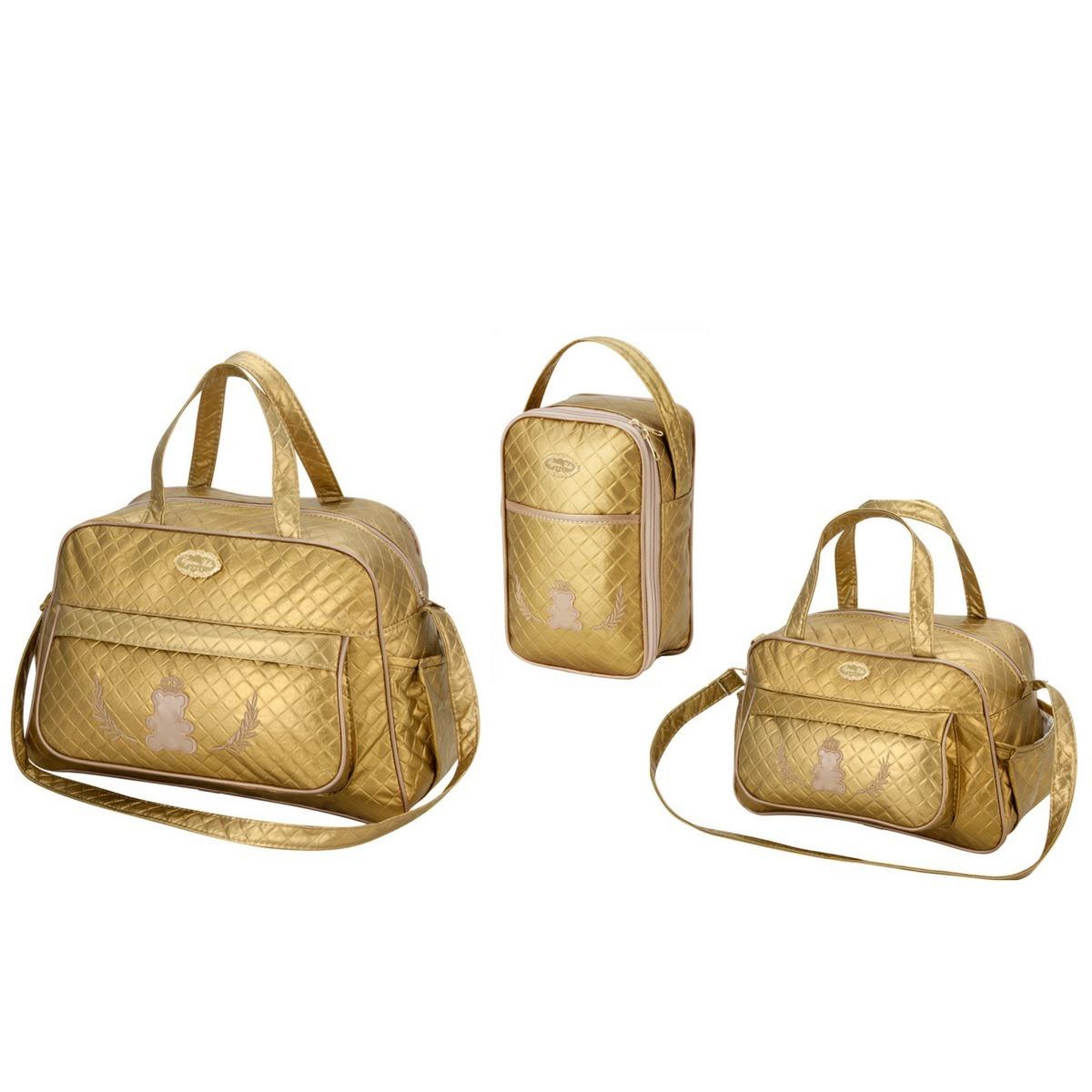c1e35d1228 kit bolsas bebe maternidade dourada enxoval promoção bl07. Carregando zoom.