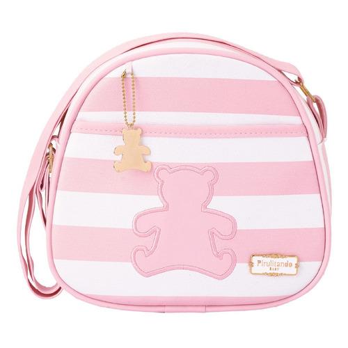 906e644dcf Kit Bolsas Maternidade Pirulitando Ursinho Rosa G+p+frasq - R  487 ...