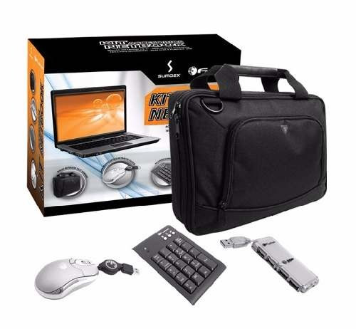 kit bolso netbook tablet 10  mouse teclado numerico hub usb
