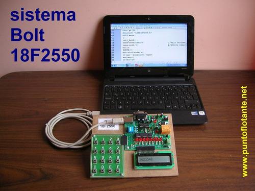 kit bolt 18f2550 tarjeta desarrollo microcontrolador pic