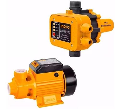 kit bomba agua periferica ½ hp + automático ingco ideal casa