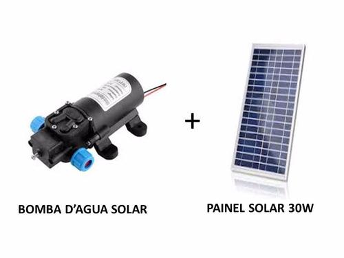 kit bomba dágua solar com painel fotovoltaico 30w ( placa )