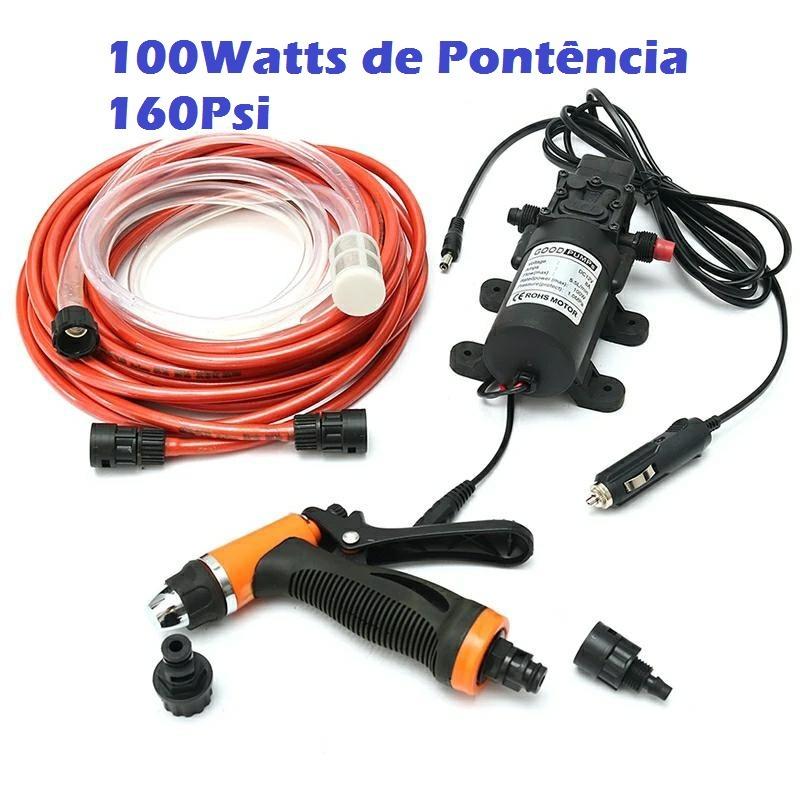 17cedb0e185 Kit Bomba Dagua Solar Lavadora Alta Pressão 12v 100w 160psi - R  275 ...