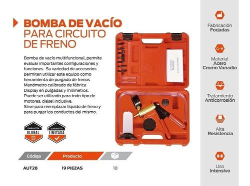 kit bomba de vacio hamilton purgar frenos estuche manometro