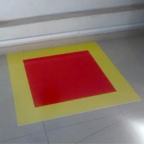 kit bombeiro combate à incêndio - placa para piso