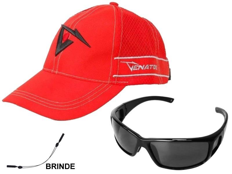 ec5ce3c26699a Kit Boné E Óculos Para Pescaria Com Cordão Segurador Brinde - R  149 ...