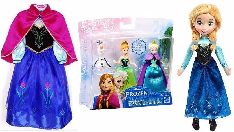 Kit Bonecas Frozen Anna Vestido Anna Frozen 67 Anos