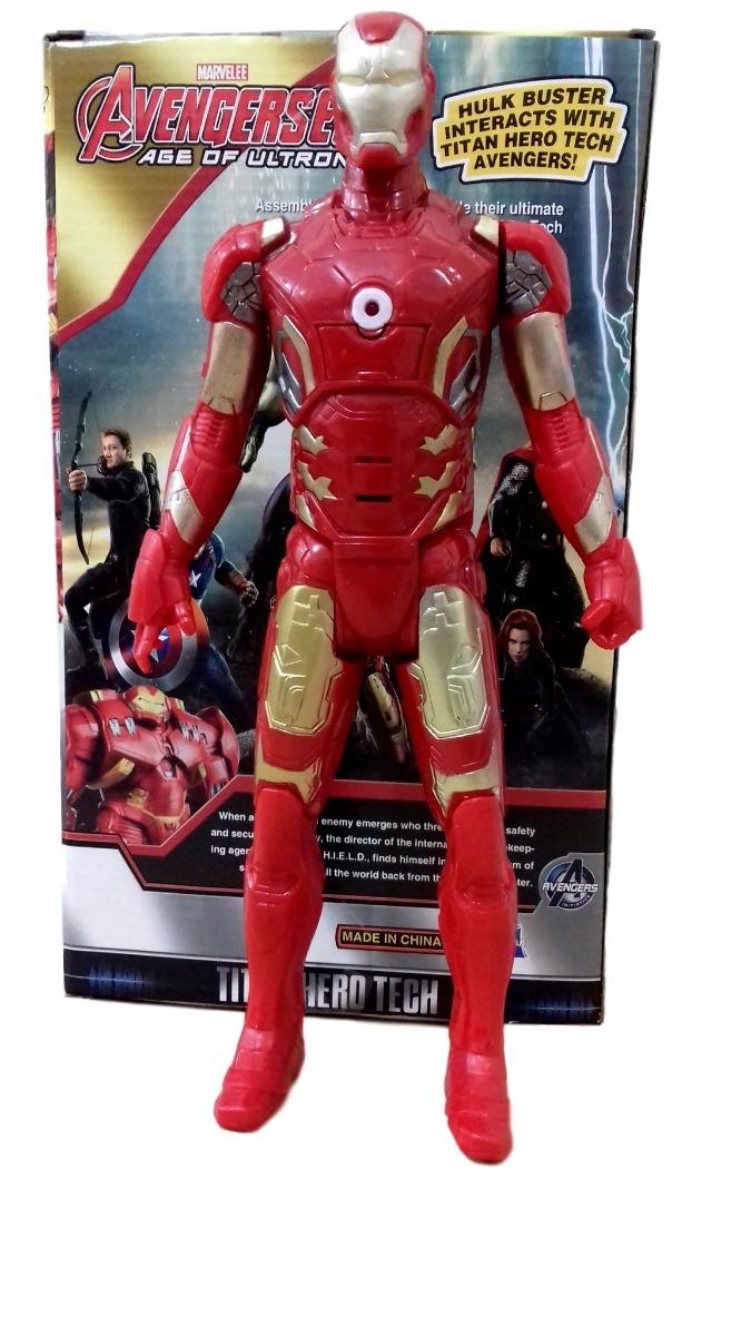 3f1b5461fd3 kit boneco homem de ferro 30cm articulado relógio e máscara. Carregando zoom .