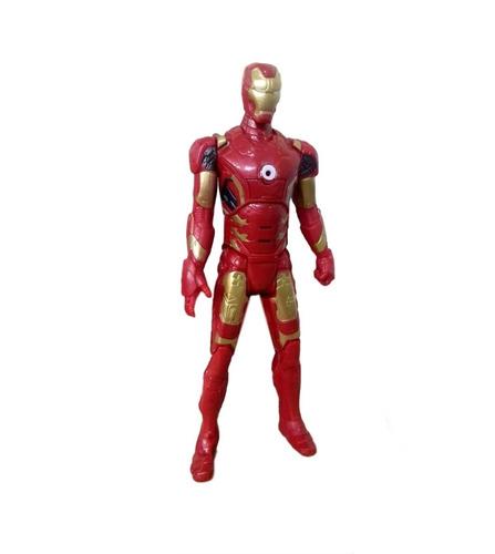 kit boneco homem de ferro vingadores marvel + espada máscara