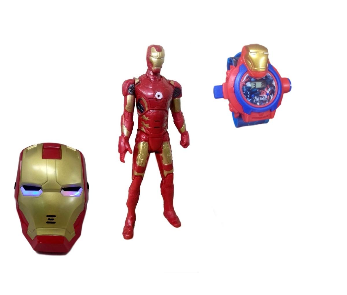 30dd589c744 kit boneco homem de ferro vingadores marvel+ máscara relógio. Carregando  zoom.