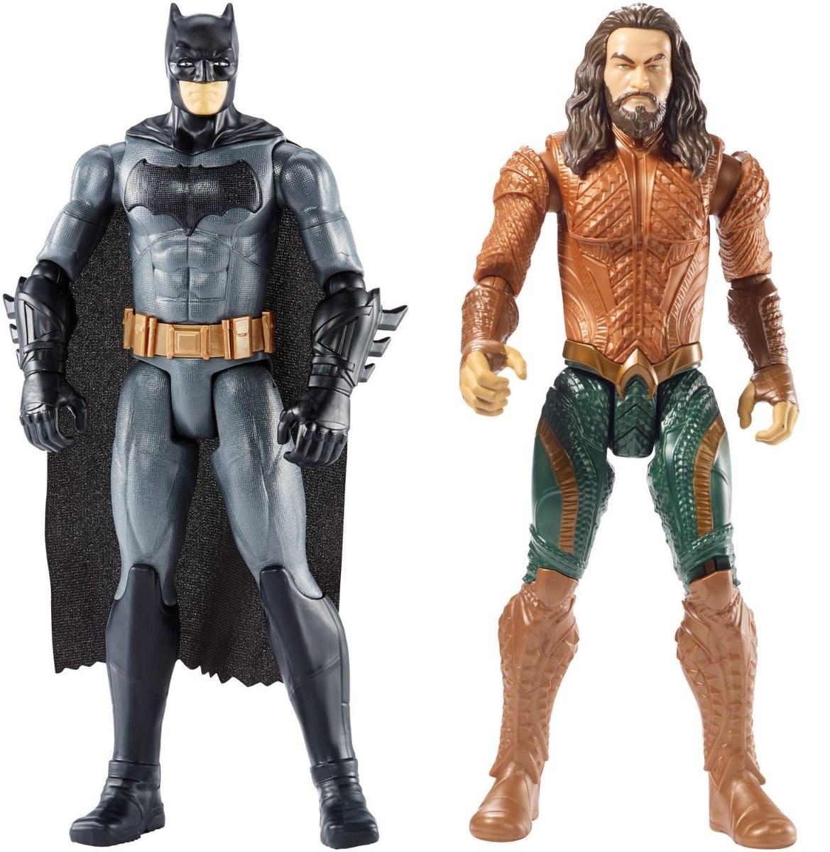 kit bonecos batman + aquaman 30cm mattel dc liga da justiça. Carregando  zoom. 91b50d5c2e7