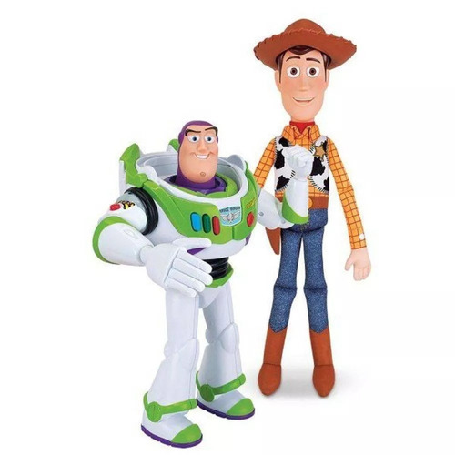 kit bonecos parceiros toy strory 4 buzz lightyear e woody