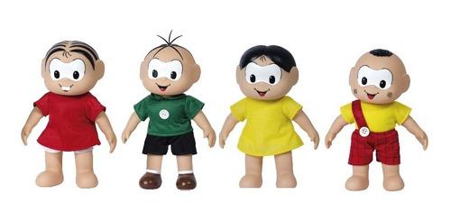 kit bonecos turma da monica - classico - 4 peças