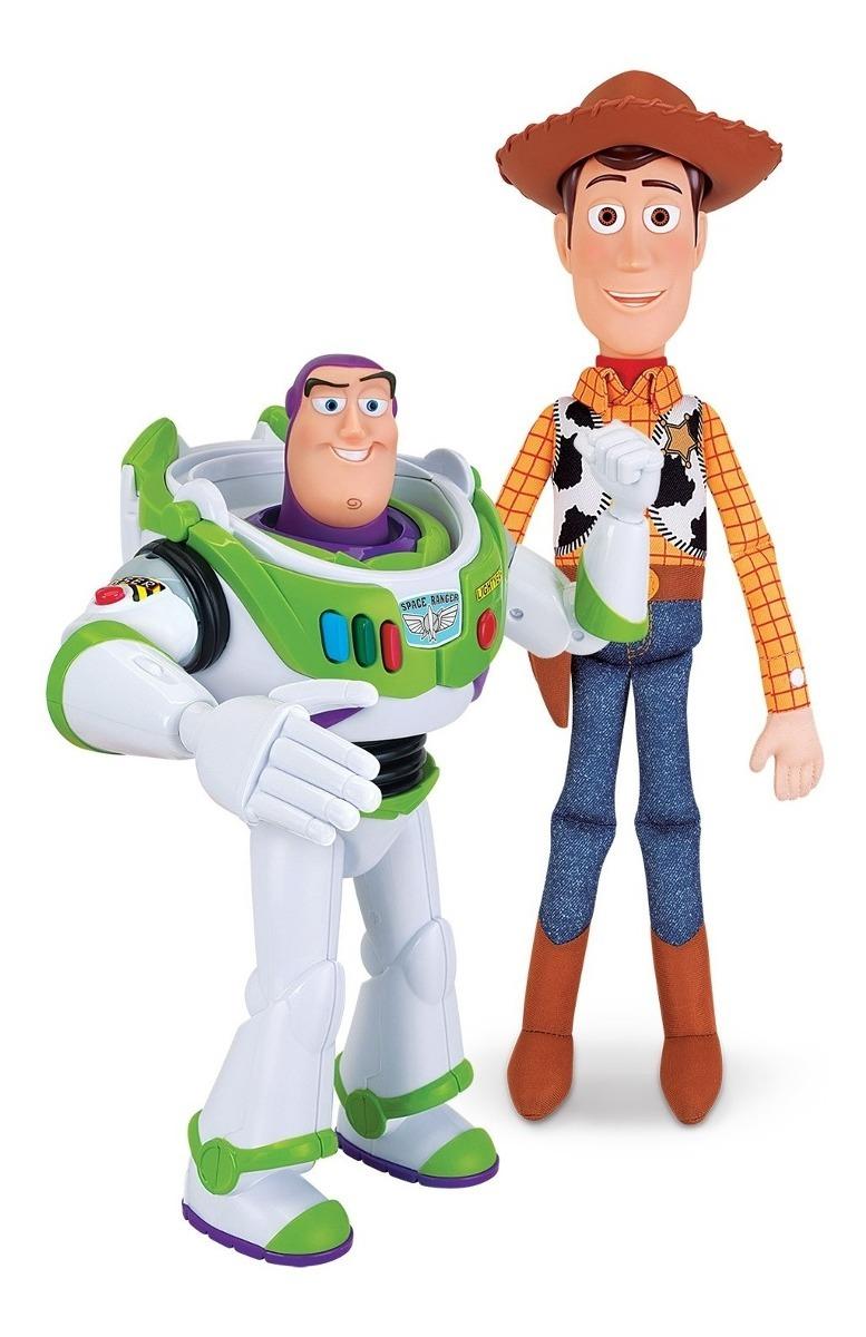 Kit Bonecos Woody E Buzz Lightyear Disney Toy Story Toyng R