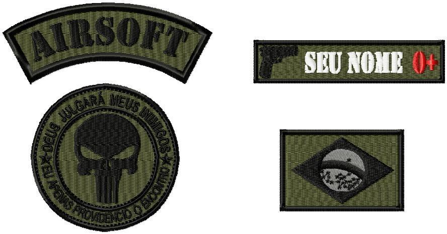 kit bordados bombeiro civil - uniforme   farda. Carregando zoom. 134ea3f6aab