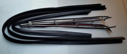 kit borracha vidro canaleta e 2 porta f1000 e f4000 até 1992