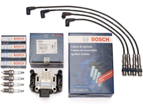 kit bosch bobina+cables+bujias vw gol trend/suran/fox/voyage