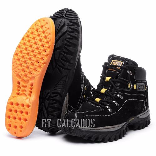 kit bota adventure caterpillar palmilh gel promoção limitada