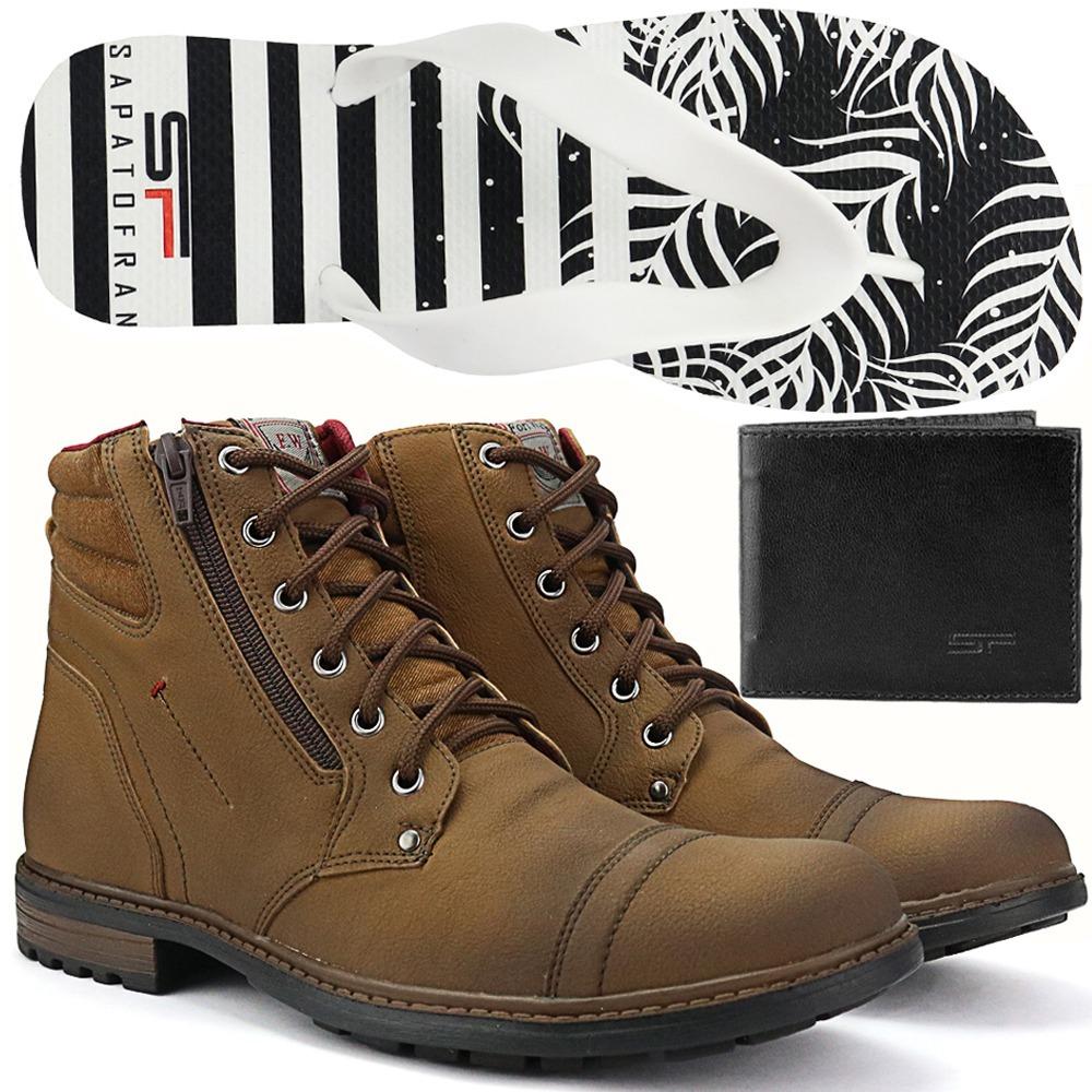 83c7f1515 kit bota coturno masculino chinelo+carteira lançamento 2019. Carregando  zoom.