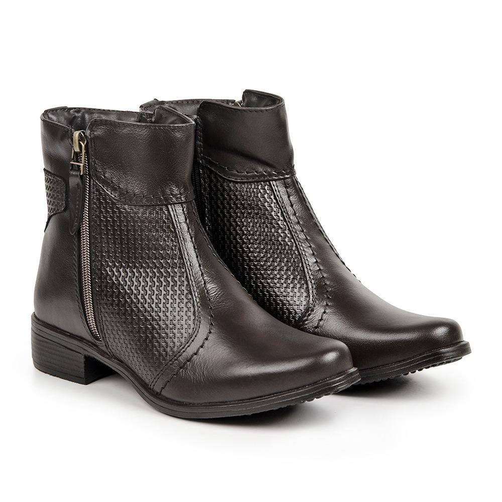 db3579b45b9b6 kit bota feminina em couro + bolsa + 3 meias promoção. Carregando zoom.