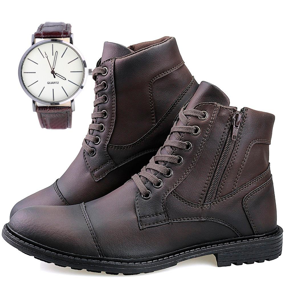 6271c6e52b kit bota masculina coturno casual social + relógio - dhl 2x1. Carregando  zoom.
