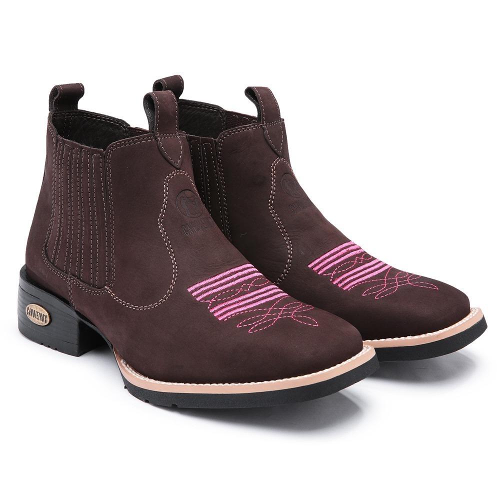 kit bota texana + cinto country couro feminino bico quadrado. Carregando  zoom. 93f8552e667
