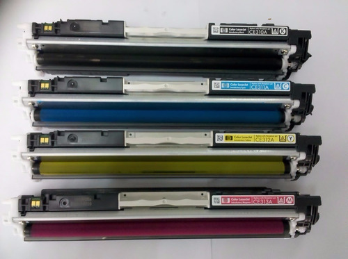 kit bote toner y chip hp 126a laser color cp1025 cp1025nw