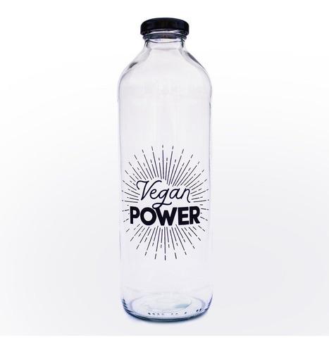 kit botella vegan power + cepillo