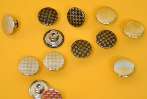 kit botão fixo - maquina + matriz + botões fixos jeans
