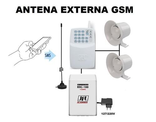 kit botão pânico p/ sms via celular e p/ controle c/ sirenes