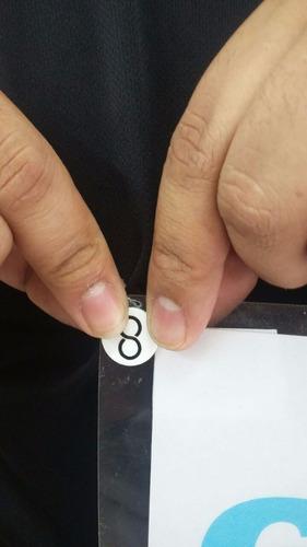 kit botão porta número coolbutton preto