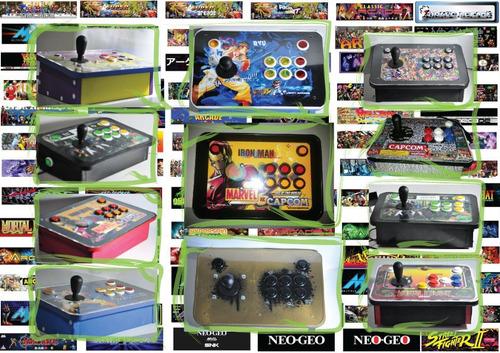 kit botões de acrílico para 2 jogadores - fliperama