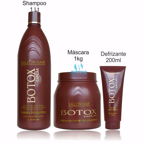 kit botox capilar - sallon hair profissional - pós química