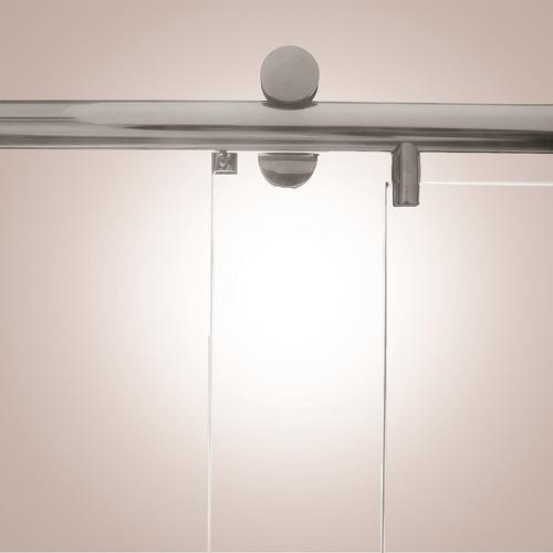 kit box advance f1 2,00 p/ banheiro roldana aparente vidro 8
