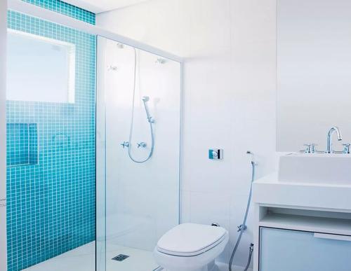 kit box banheiro alumínio vidro 8mm mod. f1 1,20 mt + cores