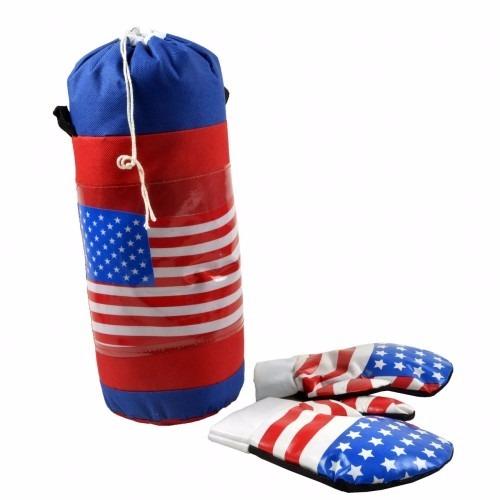 52da3c20b Kit Box Infantil Boxeador Criança Saco Pancada Menor Preço - R  54 ...