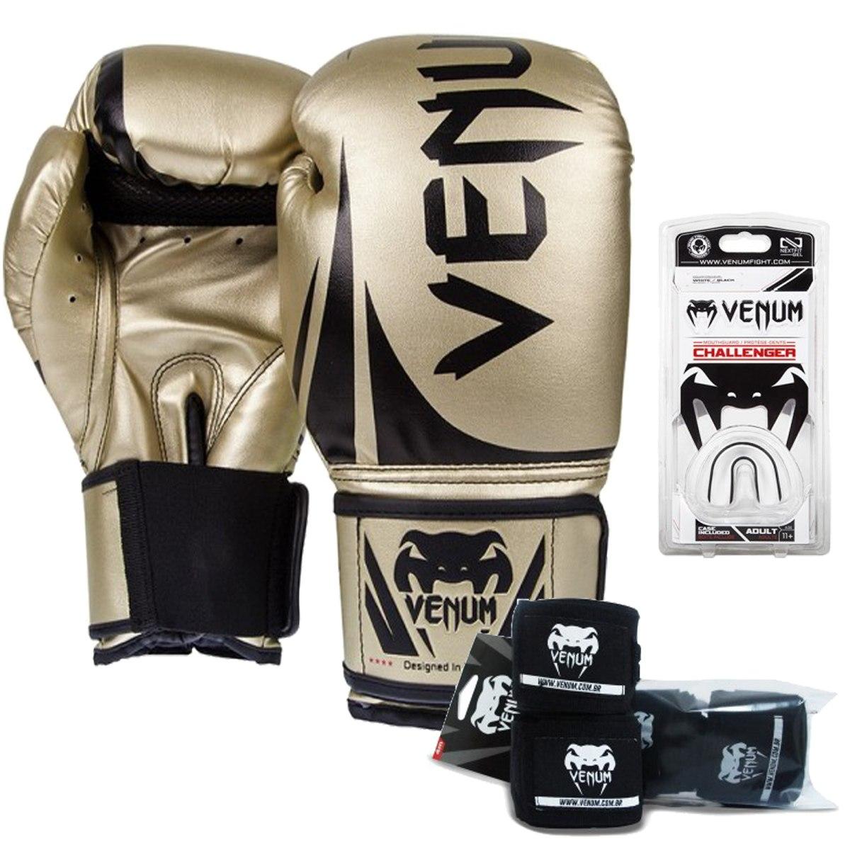 794d1ba90 Kit Boxe E Muay Thai Venum Challenger 2.0   Dourado - R  274