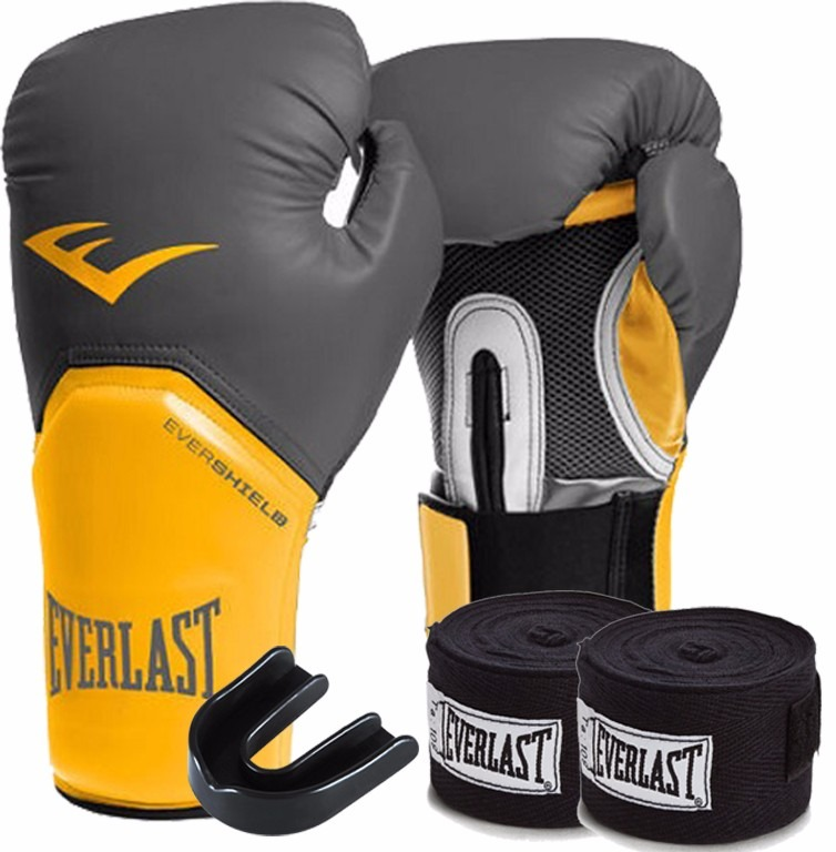 23d04e0b08 Kit Boxe Elite Everlast 14oz Cinza-laranja - R  162