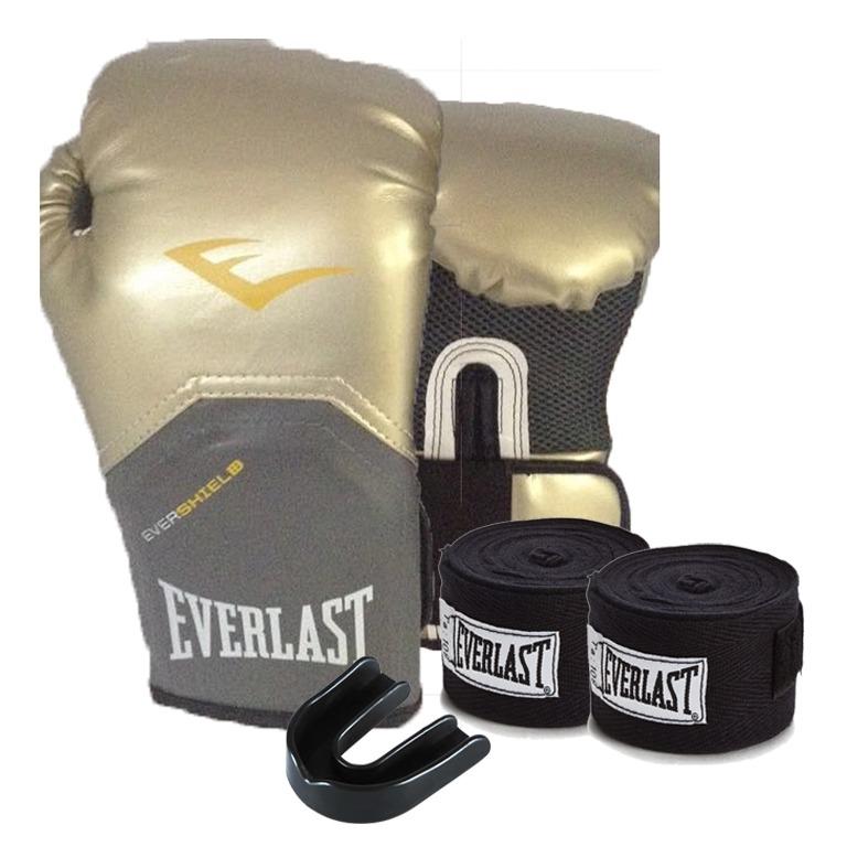 Kit Boxe Elite Pro Style 10oz Dourada Everlast - R  170 92fcc8bc7cab4
