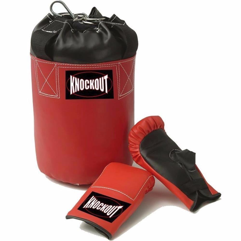 f48d32cda kit boxe infantil knockout luva e saco de pancada. Carregando zoom.