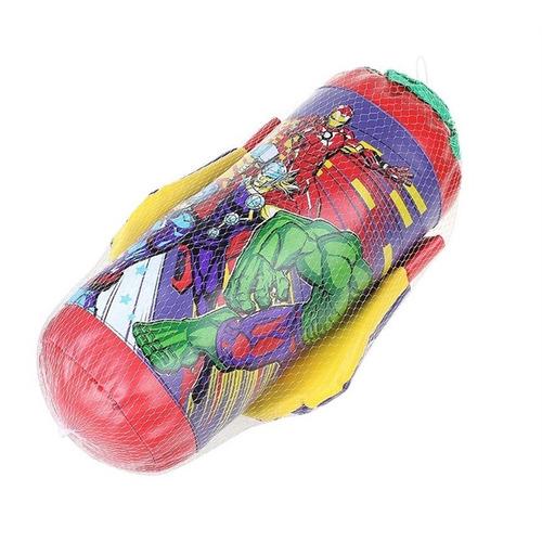 kit boxe infantil vingadores com saco de pancadas e luva