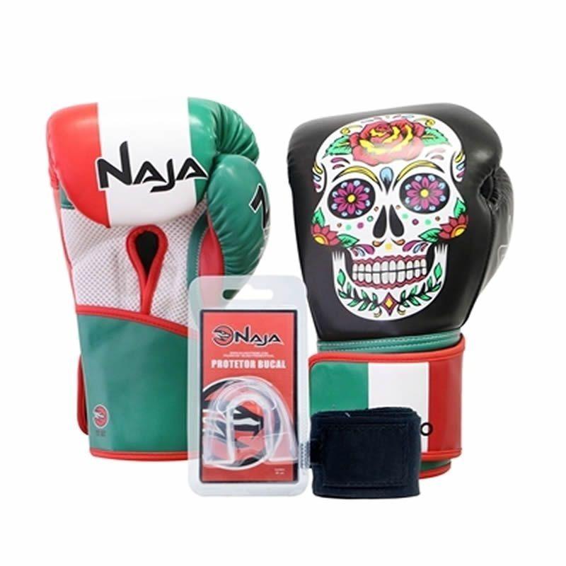 24d60f1da kit boxe luva muay thai naja países méxico - protetor bandag. Carregando  zoom.