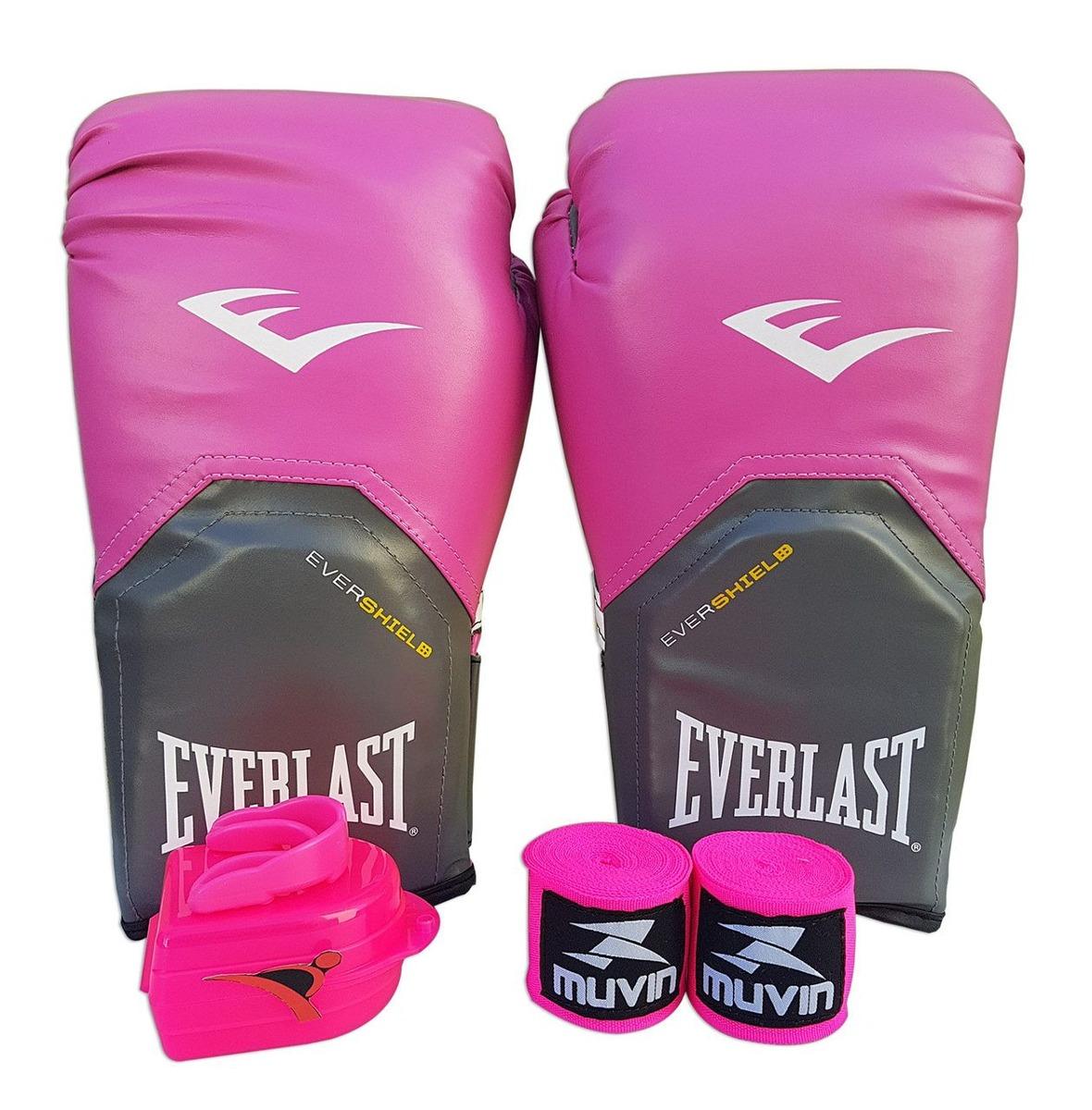 be56607fa kit boxe muay thai feminino 14oz - rosa - pro style everlast. Carregando  zoom.