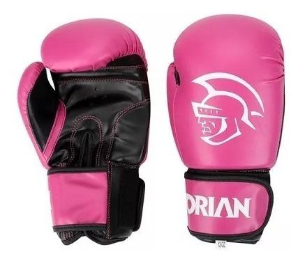 kit boxe muay thai feminino luva band bucal rosa pretorian