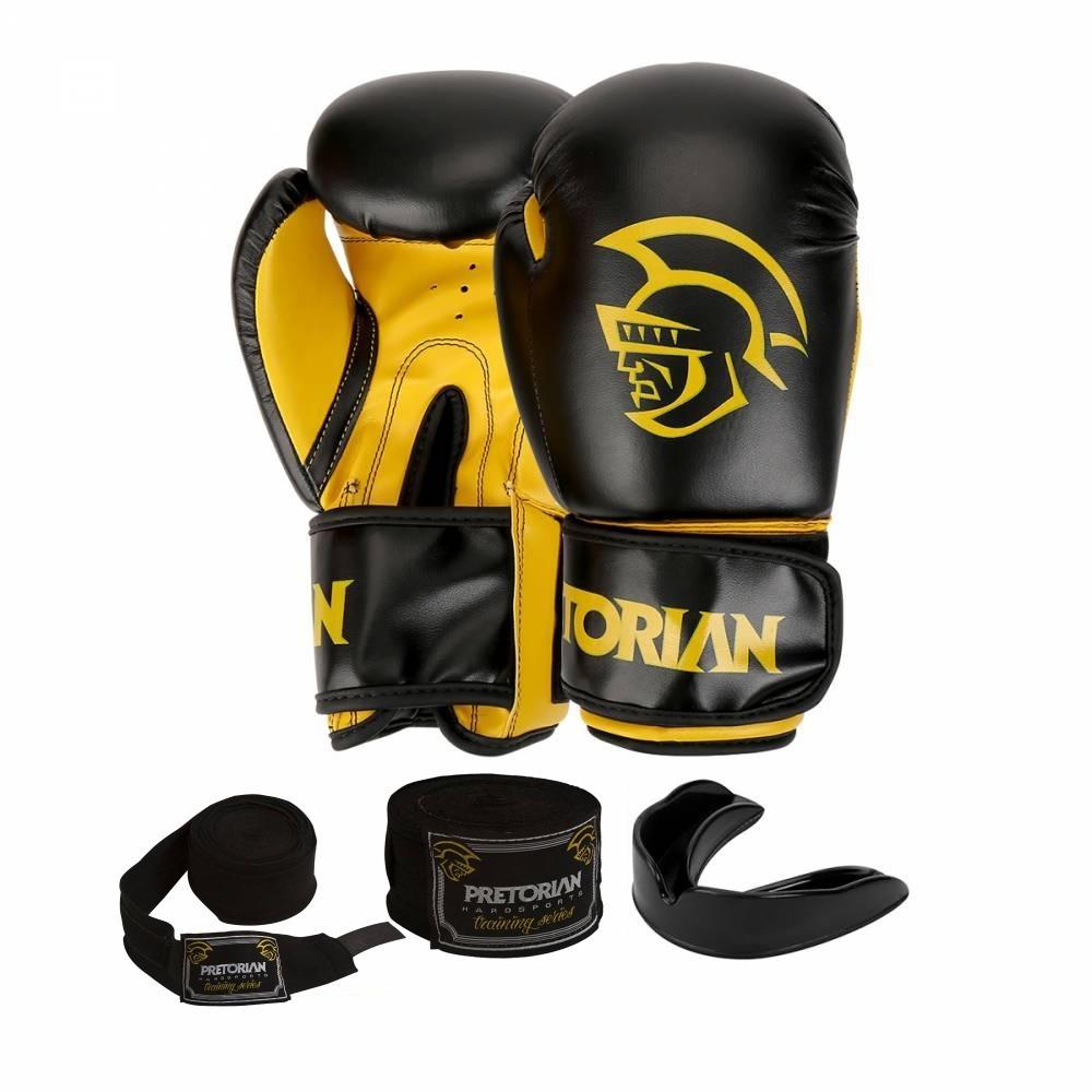 e9985e9f7 kit boxe muay thai pretorian luva 14oz preta bandagem bucal. Carregando  zoom.