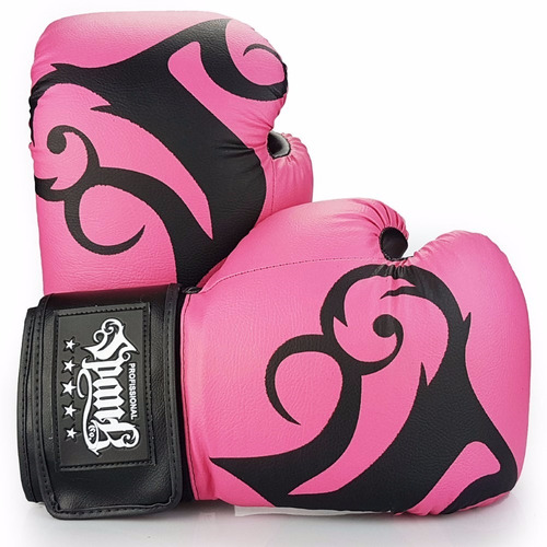 kit- boxe spank rosa (luva, bandagem, bucal)