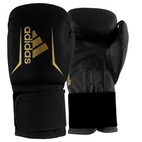 kit boxe thai adidas speed 50 preto 14oz bandagem e bucal